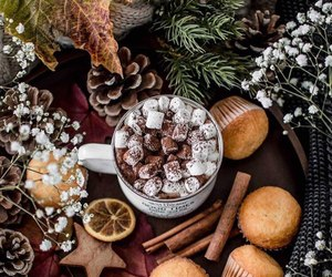 christmas, coffee, and chocolate image