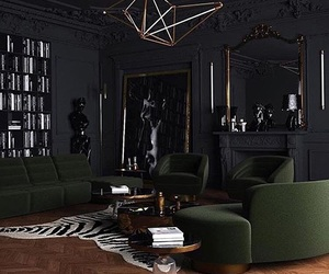 black, decor, and design image