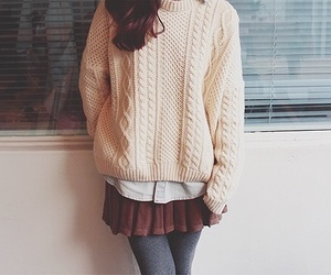 fashion, sweater, and girl image