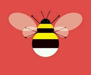 bee, red, and bees image