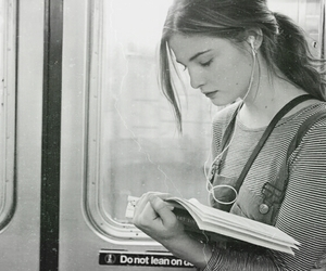 book, girl, and photography image