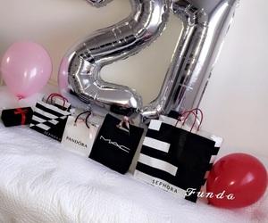 ballons, birthday, and decor image