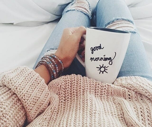 coffee, morning, and good morning image