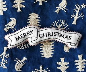 christmas, embroidery, and blue image