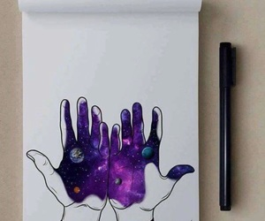 art, hands, and cool image