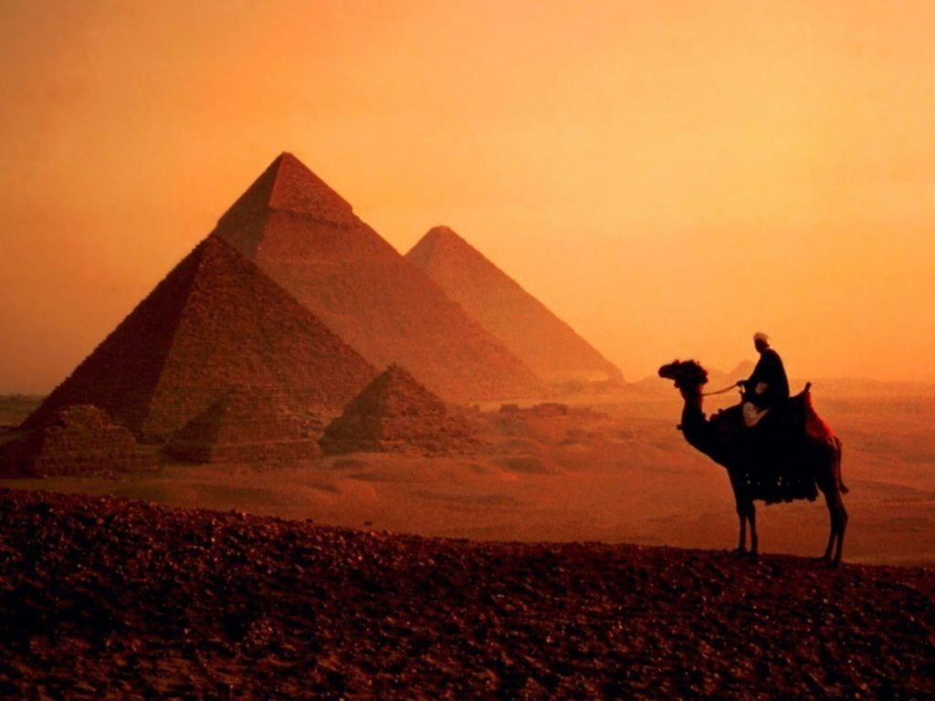 egypt, pyramid, and camel image