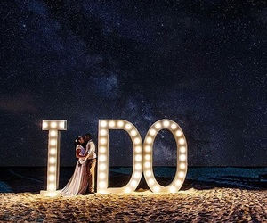 love, bride, and couple image