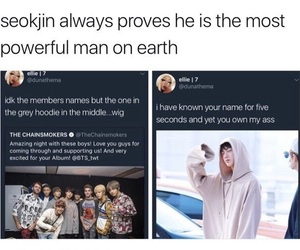handsome, hoodie, and jin image