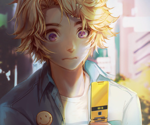 mystic messenger, yoosung, and anime image