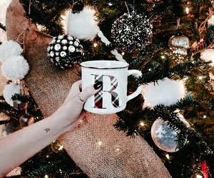 christmas, cup, and decor image