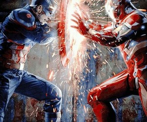 civil war, iron man, and Marvel image