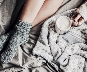 blanket, cozy, and winter image