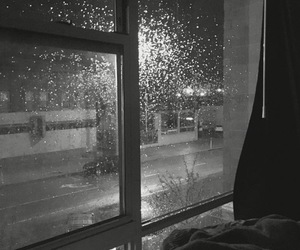 rain and night image