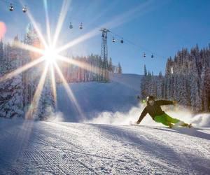 snow, sport, and winter sun image