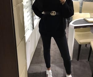 clothes, girl, and gucci belt image