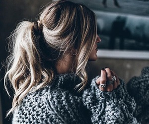 winter, hair, and style image