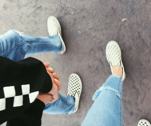 alternative, checkered, and couple image