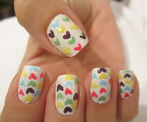 cute, coracao, and nail image
