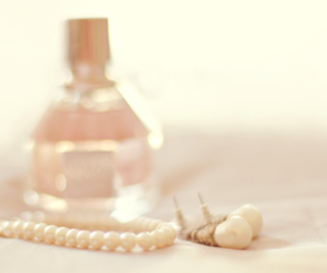 perfume, pearls, and pink image
