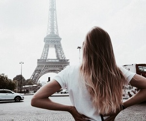 paris, travel, and hair image