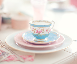 tea, cup, and pink image