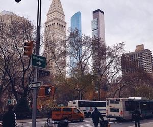 city, morning, and ny image