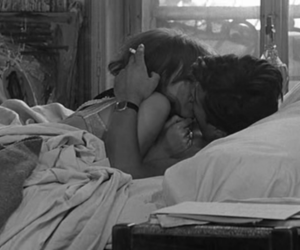 black and white, kiss, and couple image