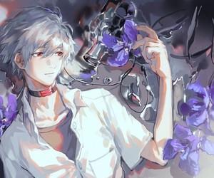 anime, kaworu nagisa, and evangelion image