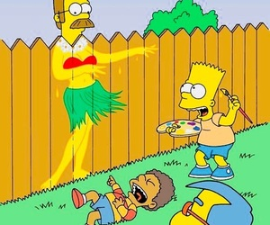 bart, lol, and simpsons image
