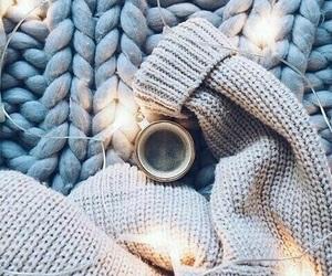 light, winter, and coffee image