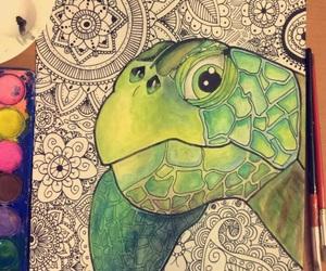 mandala, art, and green image