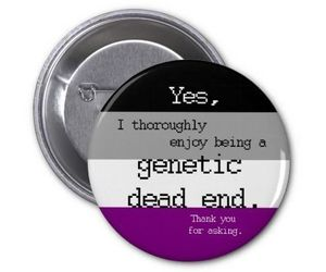 asexual, pin, and humour image