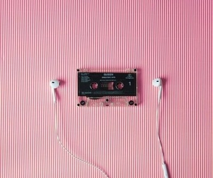 aesthetic, cassette, and ear image
