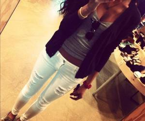blazer, collar bones, and outfit image