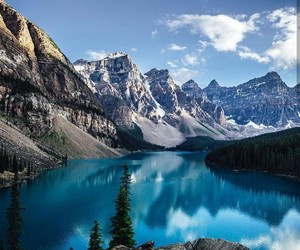lake, travel, and moraine lake image