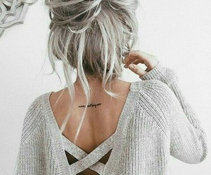 hair, style, and tattoo image