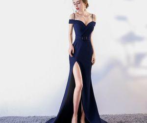 evening dress, girl, and mermaid image