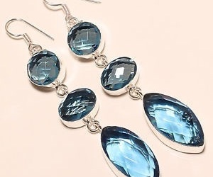 3, earrings, and blue image