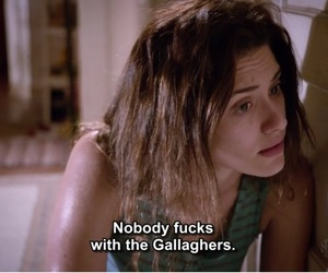 shameless, fiona, and gallaghers image