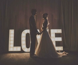 love, couple, and bride image