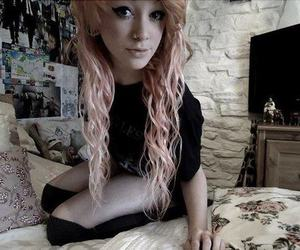 girl, piercing, and alternative image