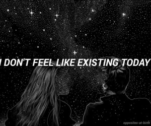 quotes, stars, and exist image