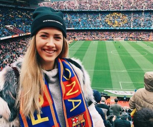 Barca, fans, and football image