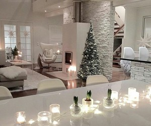 house, interior, and christmas image