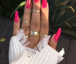 nail, neon, and nails image