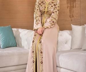 haute couture, maroc, and caftan image