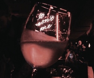 wine, neon, and drink image
