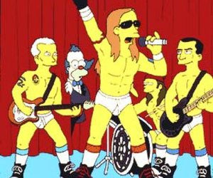 the simpsons, red hot chili peppers, and simpsons image