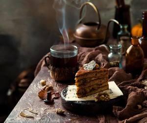 autumn, peaceful, and cake image