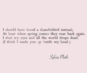 quotes, sylvia plath, and poem image